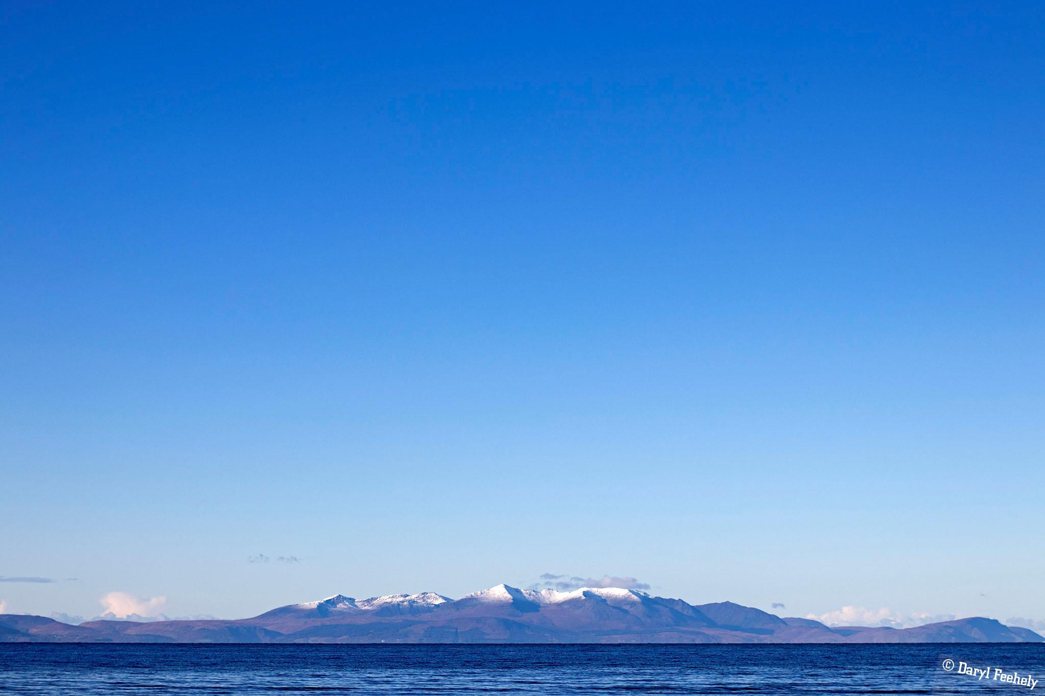 Snow Capped Isle of Arran