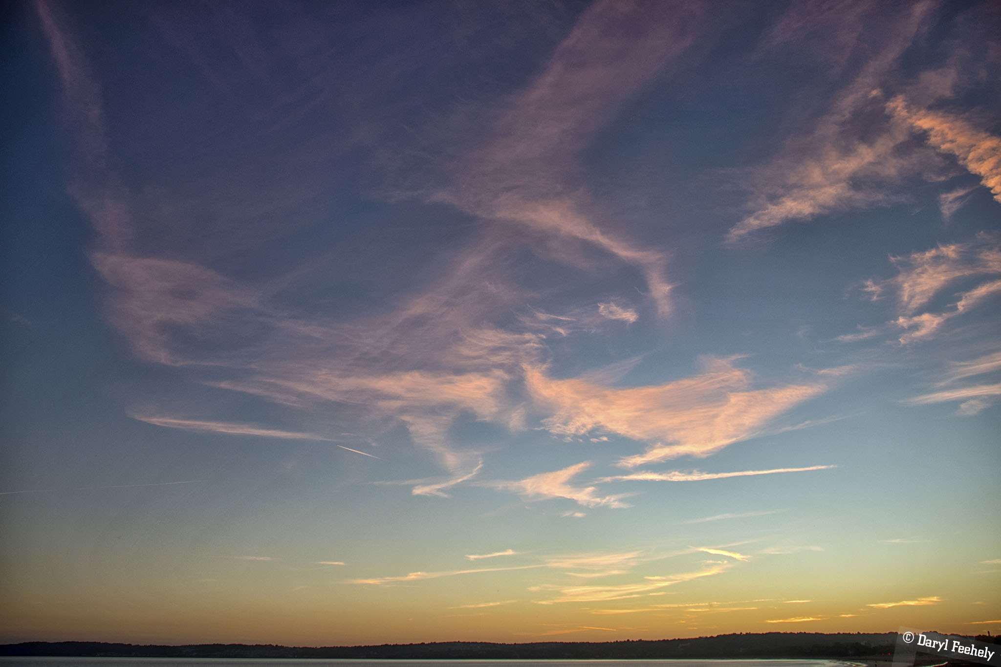Sunset Clouds Over Swansea Bay