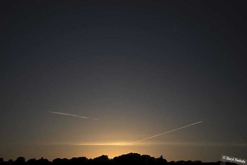Sunset Sky Trails
